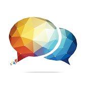 Abstract Speech Bubble