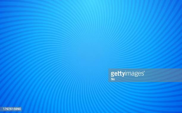 abstract spiral swirl blue background pattern - hypnosis stock illustrations