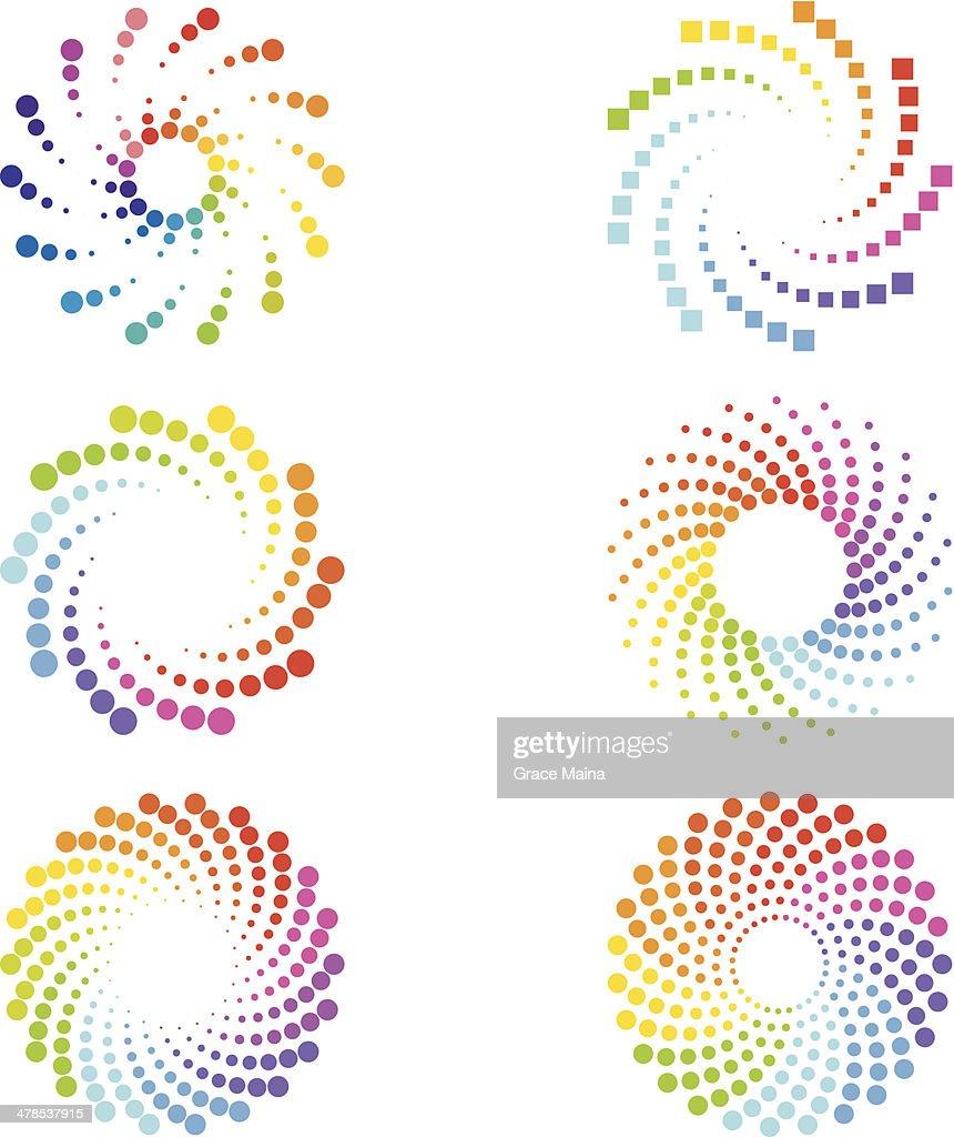 Abstract spirals design elements
