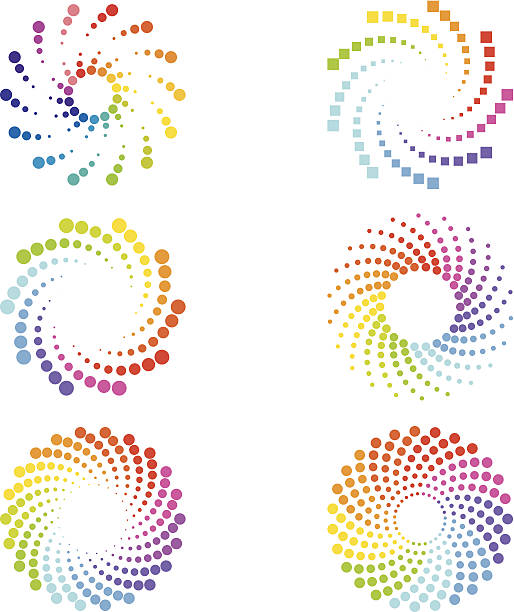 abstract spirals design elements - swirl stock illustrations