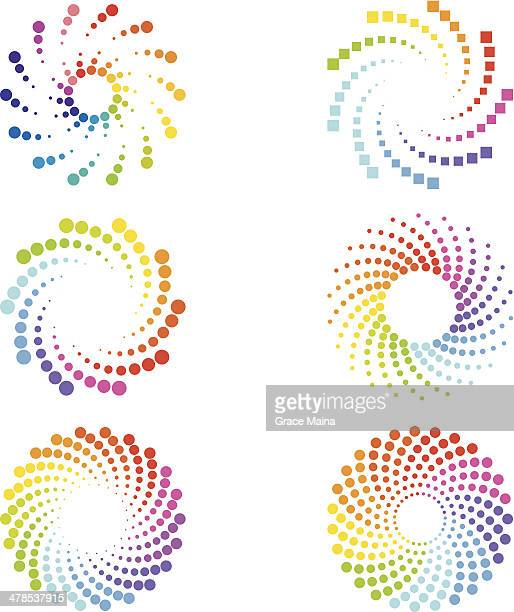 abstract spirals design elements - spinning stock illustrations