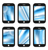 Abstract splash screens for mobile phones app with different wav