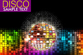 Abstract Splashy Background with Disco ball