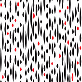 Abstract spot seamless pattern. Black and red blot texture. Fall