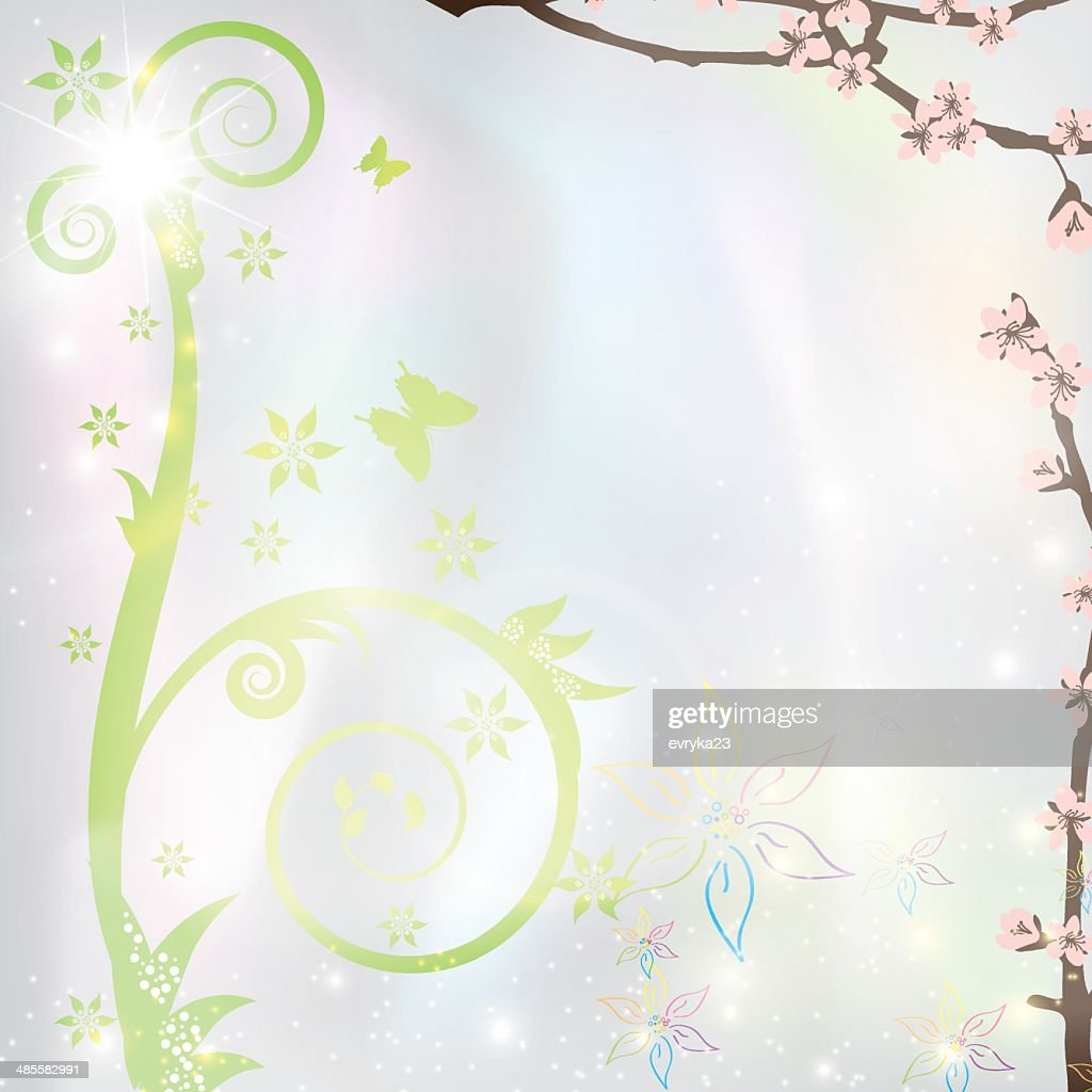 Abstract Spring Floral Background Stock Illustration Getty