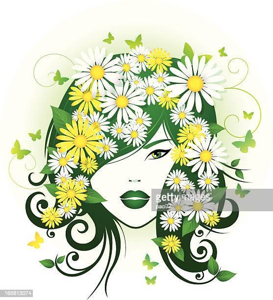 Astratto ragazza primavera