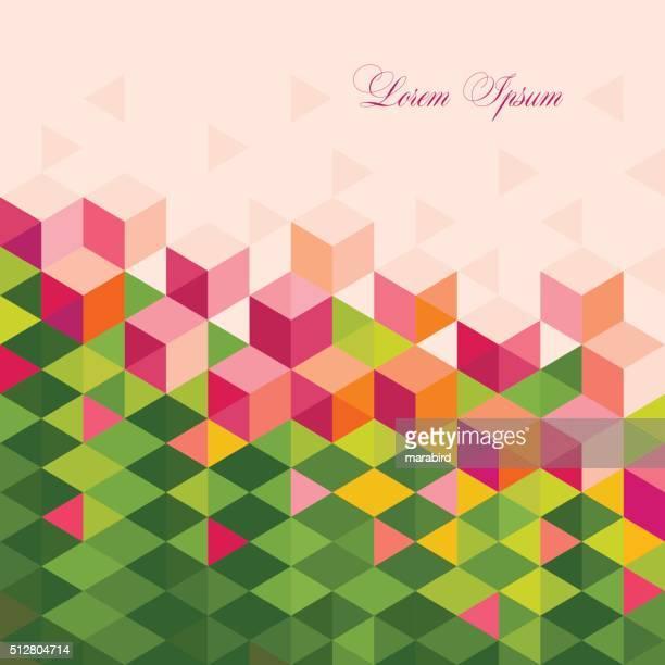 ilustrações, clipart, desenhos animados e ícones de abstrato flores da primavera com design superleve poli - lorem ipsum