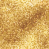 Abstract square golden pixel background in flat colors