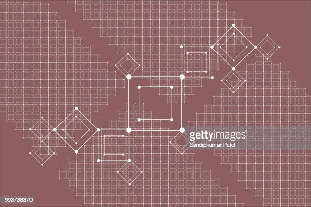 abstract square seamless pattern background - brown background stock illustrations