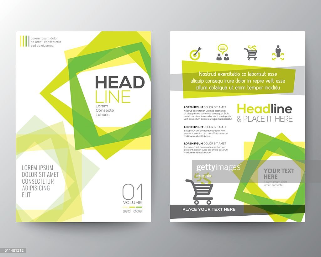 Abstract square shape background for Poster Brochure Flyer design
