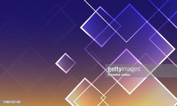ilustraciones, imágenes clip art, dibujos animados e iconos de stock de ilustración de fondo de cuadrados abstractos - cuadrado composición