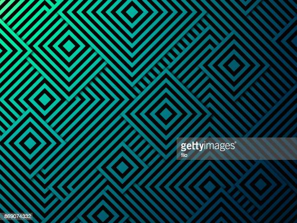 abstract squares background - optical illusion stock illustrations
