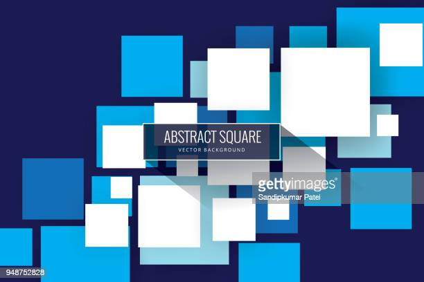 abstract squares background - square stock illustrations