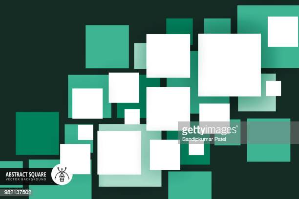 illustrazioni stock, clip art, cartoni animati e icone di tendenza di abstract squares background - quadrato composizione