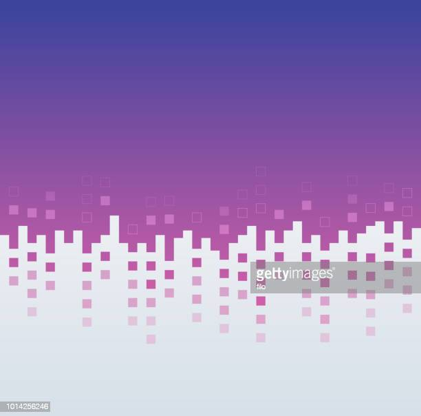 abstract squares cityscape - change stock illustrations