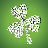 abstract st patrick day