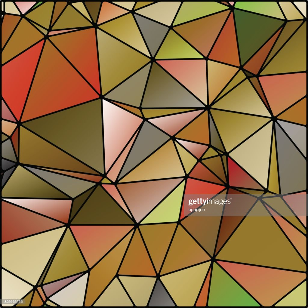 abstract stained glass in autumn, fall colors