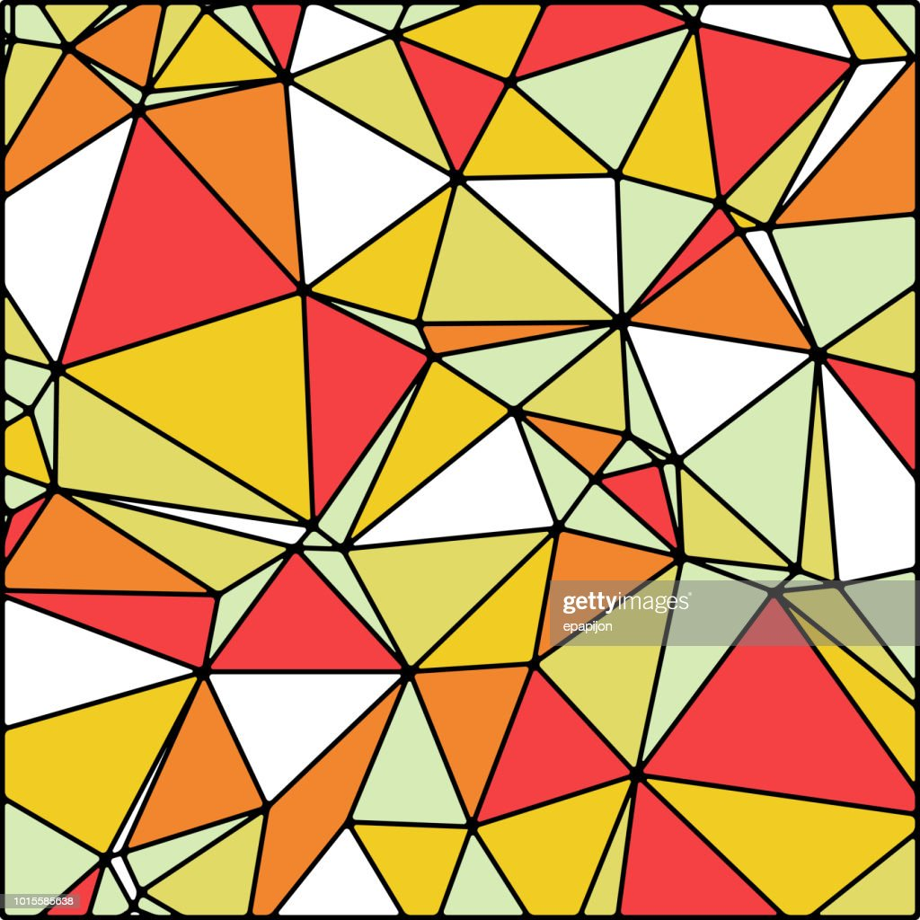 abstract stained glass in summer, fall colors