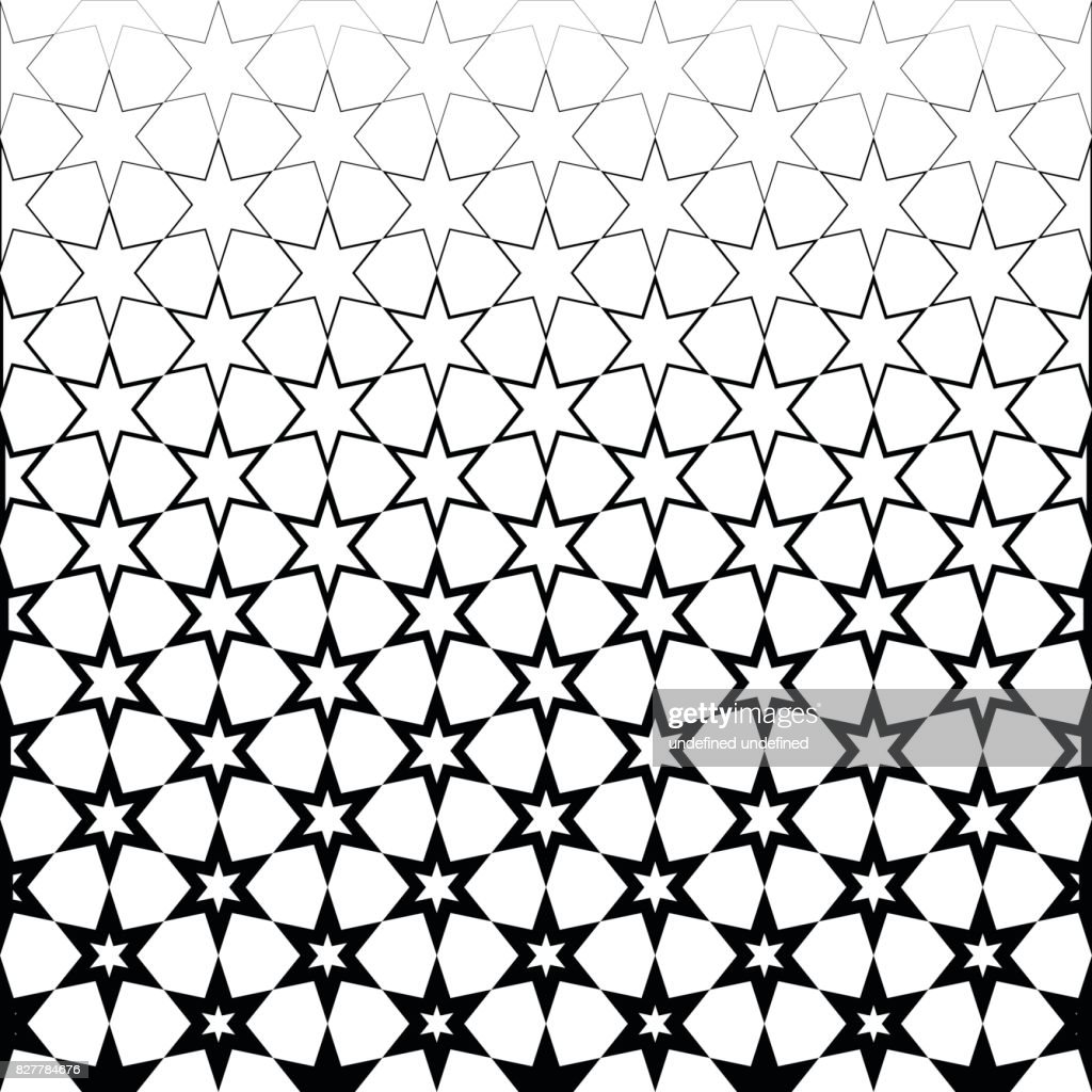 Abstract Star Black And White Wallpaper