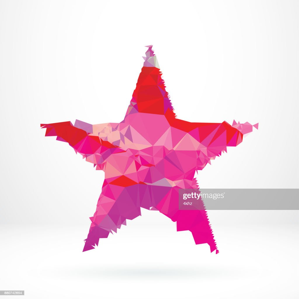 Abstract Star Shape Polygon Graphic Design Element stock