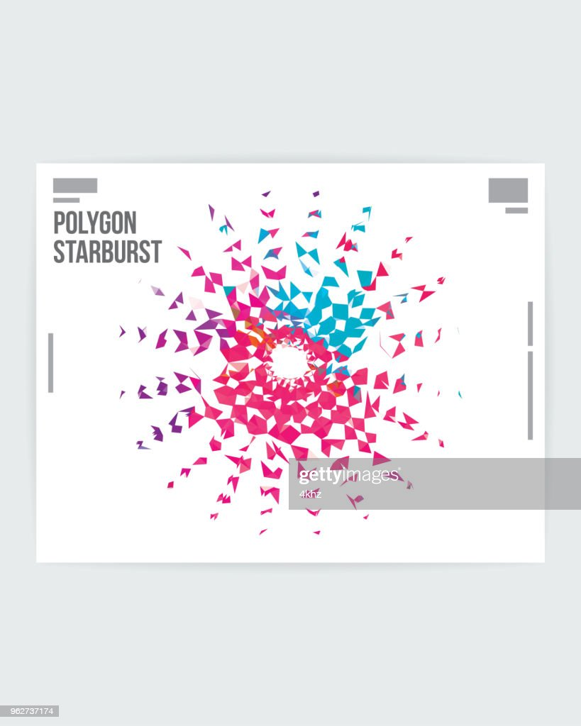 abstract starburst graphic design poster layout template vector art