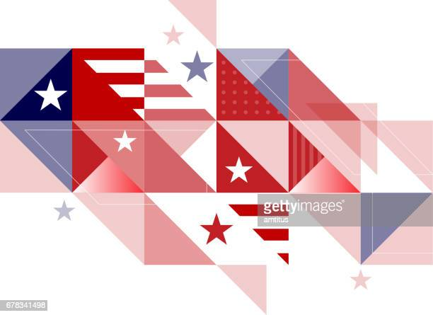 abstract stars and stripes - independence day stock illustrations, clip art, cartoons, & icons
