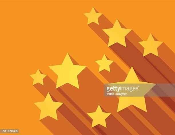 illustrazioni stock, clip art, cartoni animati e icone di tendenza di sfondo astratto con stelle - a forma di stella