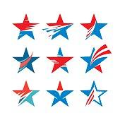Abstract stars signs - creative vector set.