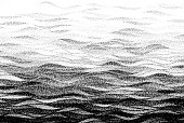 Abstract stippled halftoned waves background