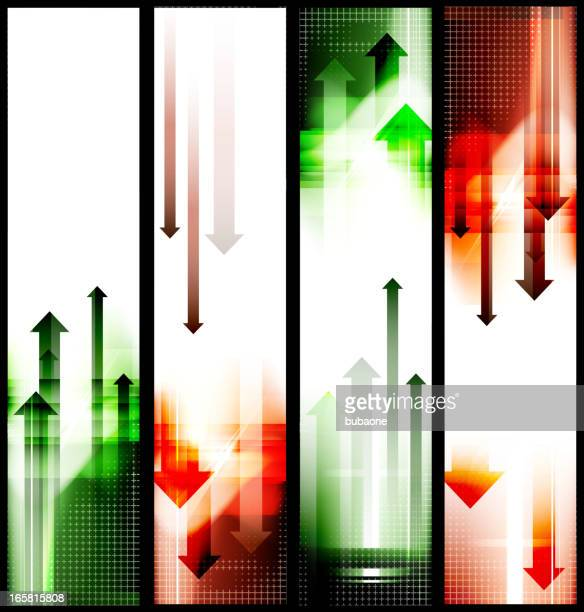 abstract stock market arrows Background