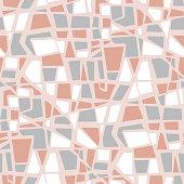 Abstract stone mosaic geometric seamless pattern