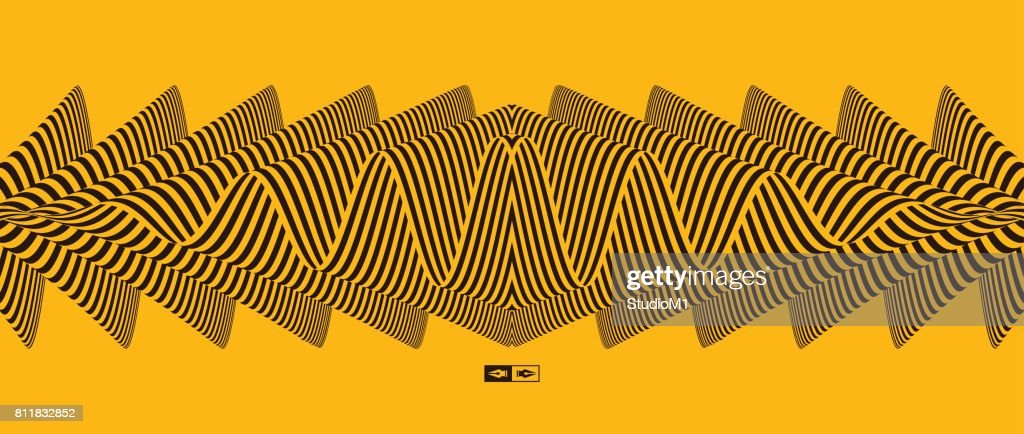 Abstract striped background. Optical art. Vector illustration.