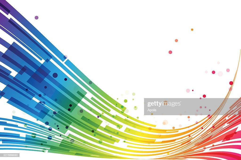 Abstract stripes rainbow background