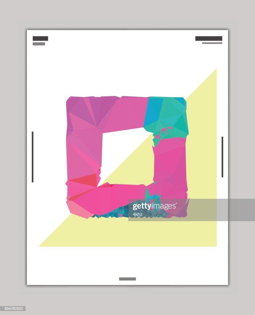 抽象的なスタイリッシュなデザイン ポスター レイアウト テンプレート
