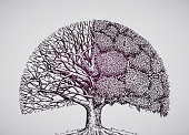 abstract stylized tree. ecology, nature, environment vector illustration