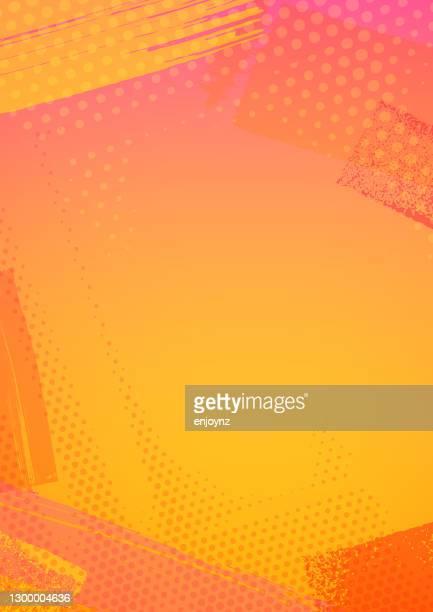 illustrazioni stock, clip art, cartoni animati e icone di tendenza di cornice di sfondo estiva astratta - sfondo a colori