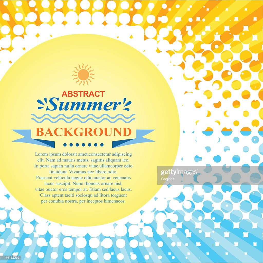 Abstract summer background with sporadic circles