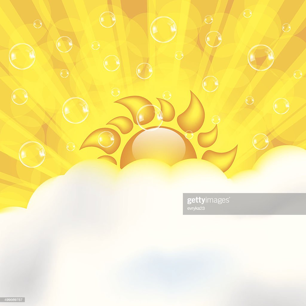 Abstract summer design background with sun