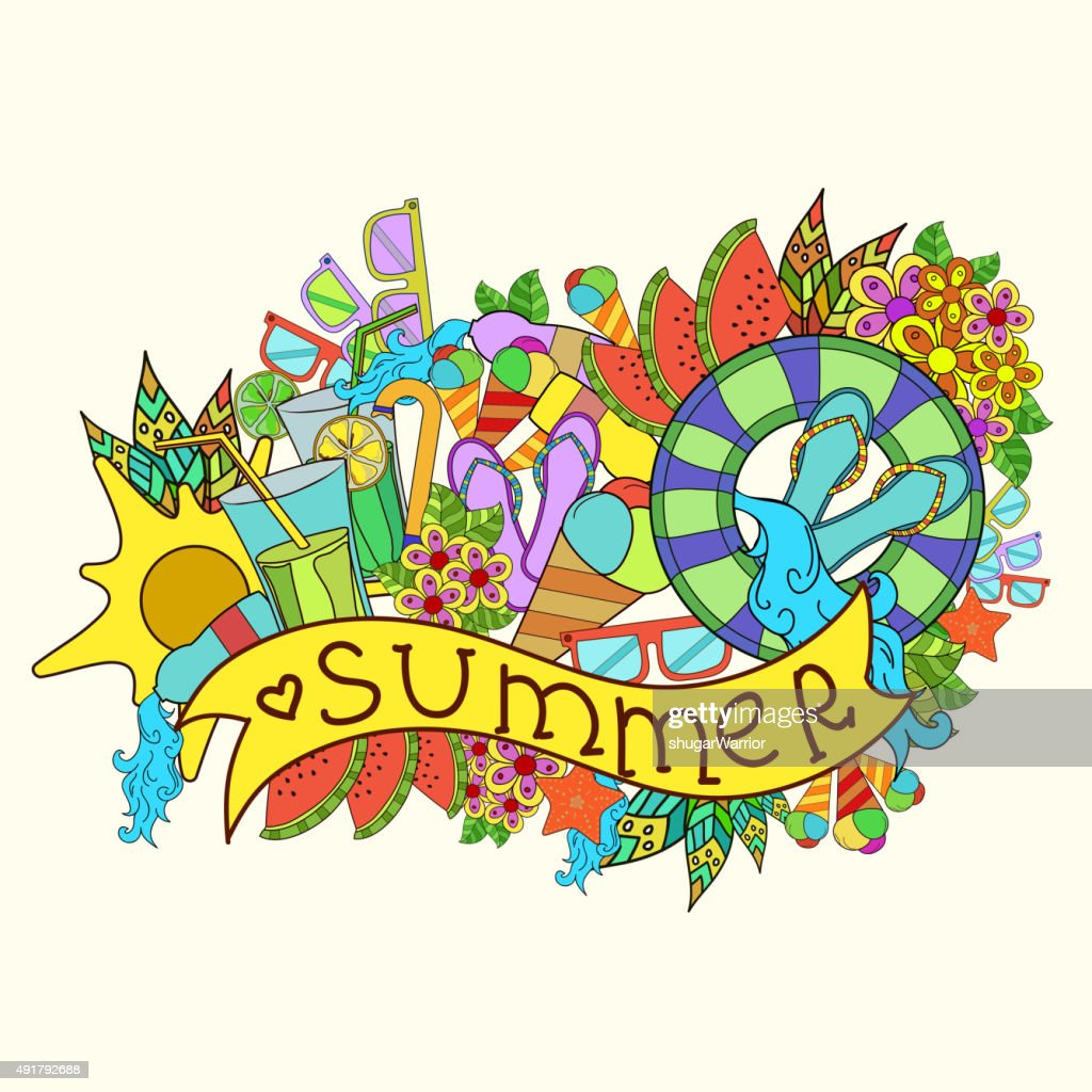 abstract summer vecetion time background vector illustration concept design
