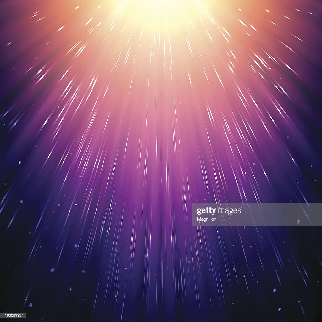 Abstract sunlight in space : stock illustration