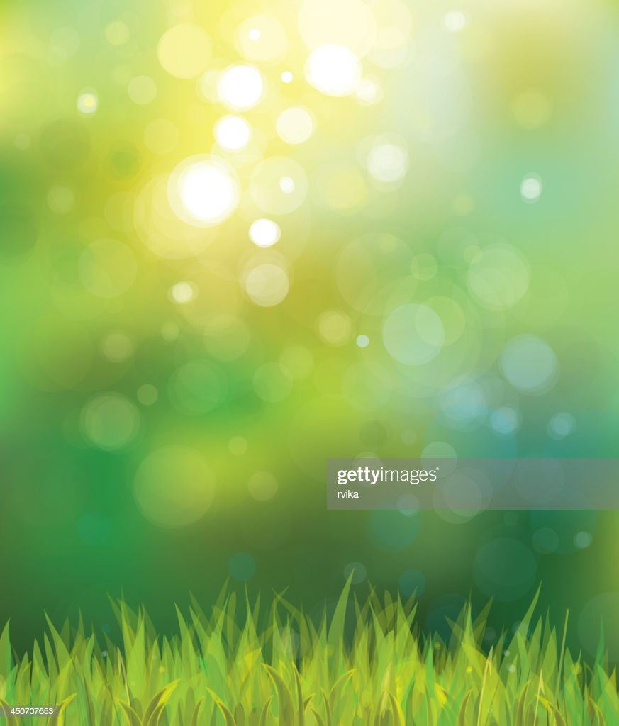 Abstract sunny spring grass background