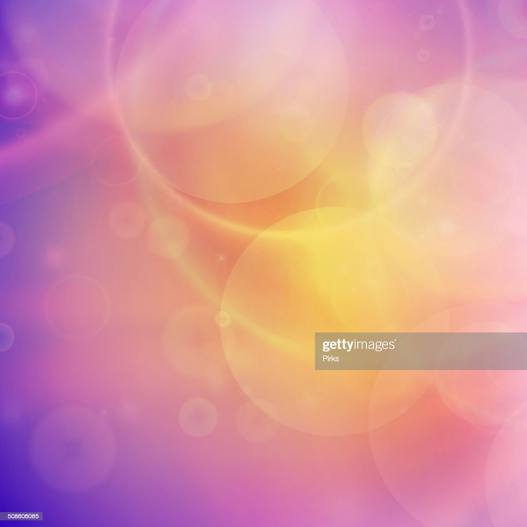 Abstract Sunset on sky with lenses flare. : Vector Art