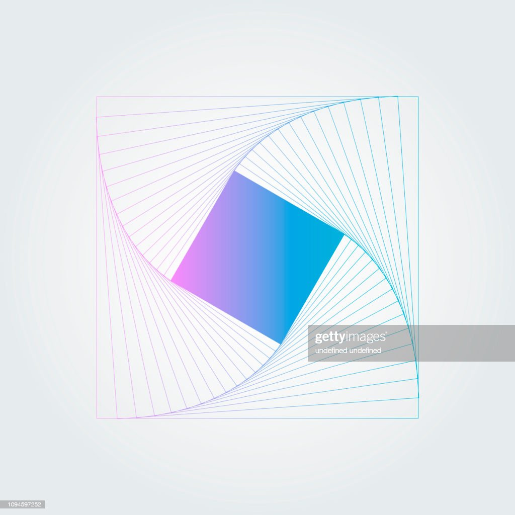 Abstract swirl hexagon structure