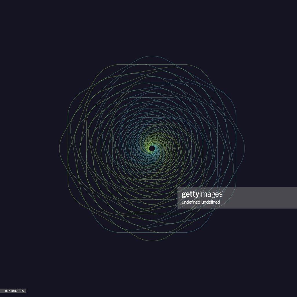 Abstract swirl hexagon vortex structure