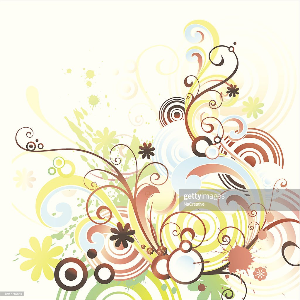 Abstract swirls and circles background