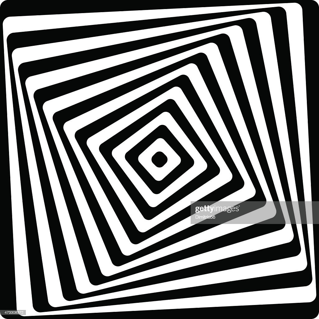 Abstract swirly square pattern