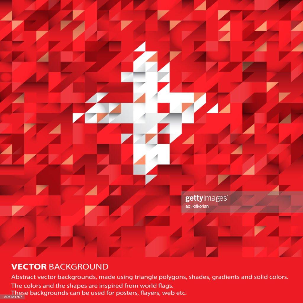 Abstract Swiss Flag, Switzerland Background (Vector Art)