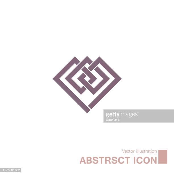 抽象シンボルデザイン。 - 菱型点のイラスト素材/クリップアート素材/マンガ素材/アイコン素材