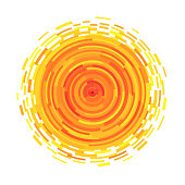 Abstract symbol of the sun.