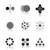 Abstract symbols icons